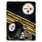 Pittsburgh Steelers Blanket 60x80 Raschel Slant Design