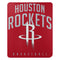 Houston Rockets Blanket 50x60 Fleece Lay Up Design