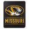 Missouri Tigers Blanket 50x60 Fleece Control Design