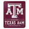 Texas A&M Aggies Blanket 50x60 Fleece Control Design