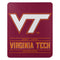 Virginia Tech Hokies Blanket 50x60 Fleece Control Design