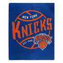 New York Knicks Blanket 50x60 Raschel Blacktop Design