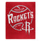 Houston Rockets Blanket 50x60 Raschel Blacktop Design
