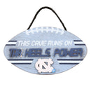 North Carolina Tar Heels Sign Wood Football Power Design