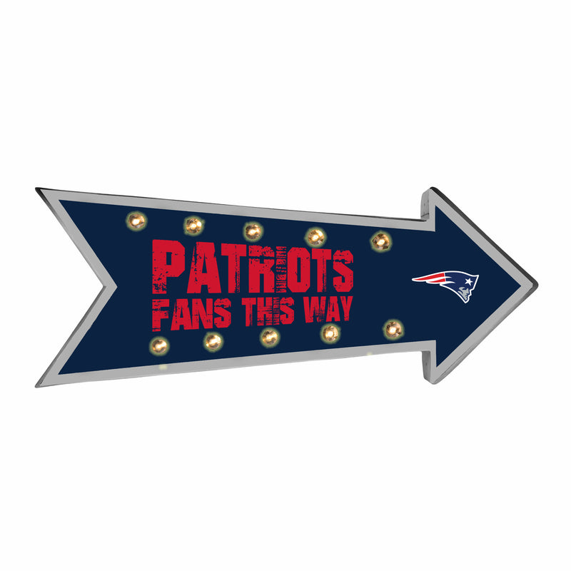 New England Patriots Sign Running Light Marquee