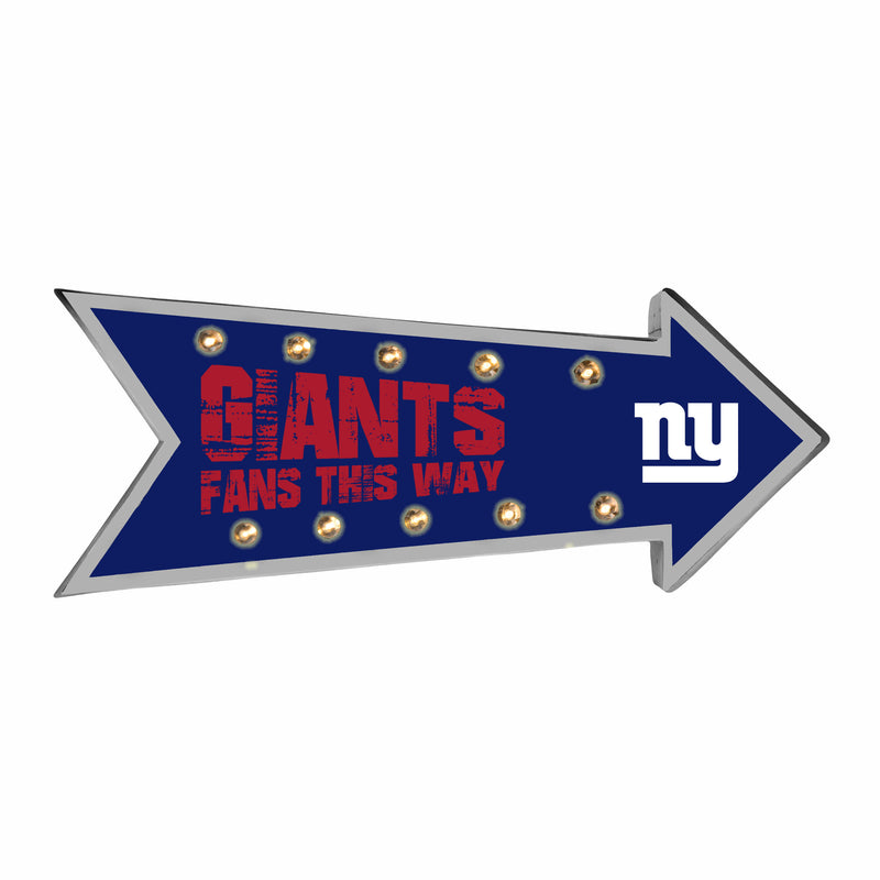 New York Giants Sign Running Light Marquee