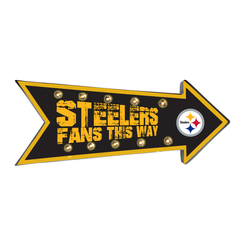 Pittsburgh Steelers Sign Running Light Marquee