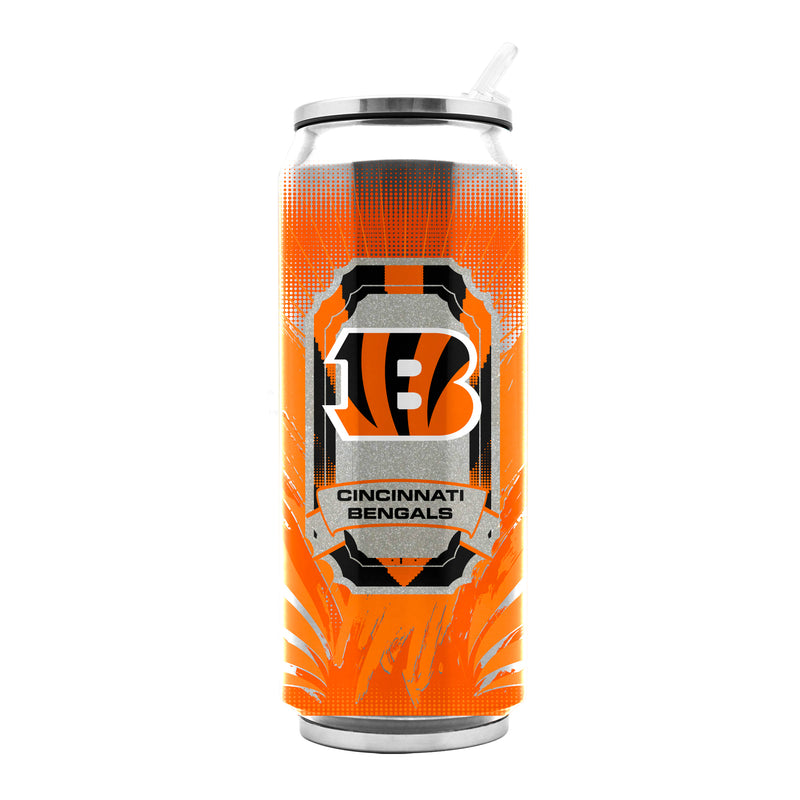 Cincinnati Bengals Stainless Steel Thermo Can - 16.9 ounces - Special Order