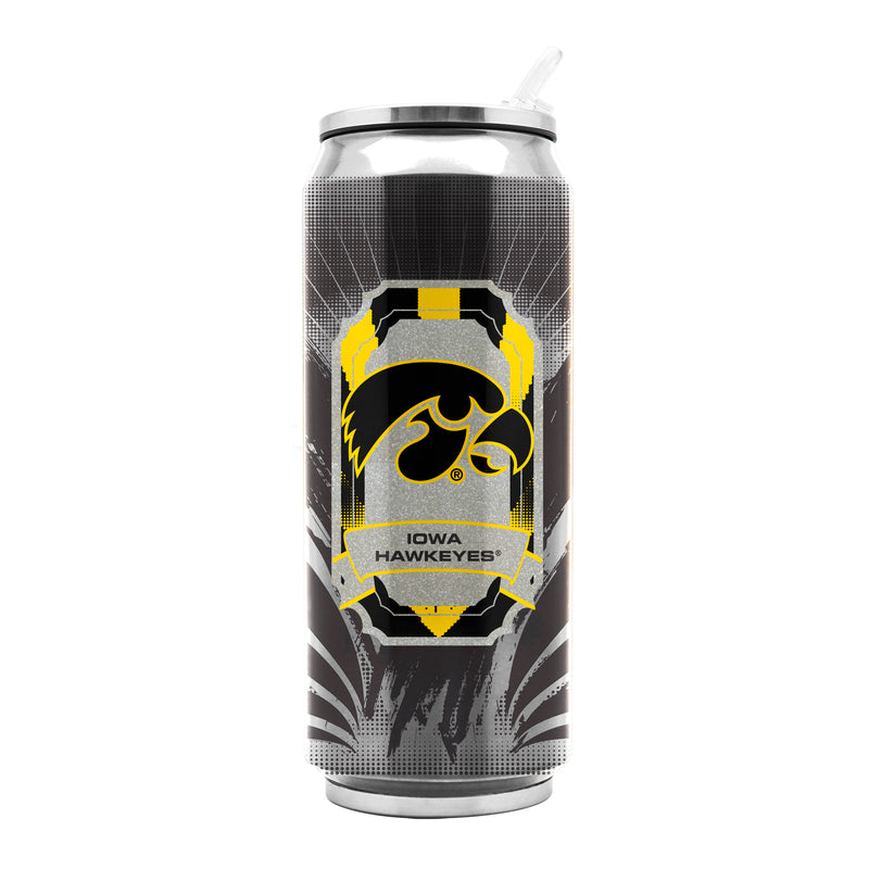 Iowa Hawkeyes Stainless Steel Thermo Can - 16.9 ounces