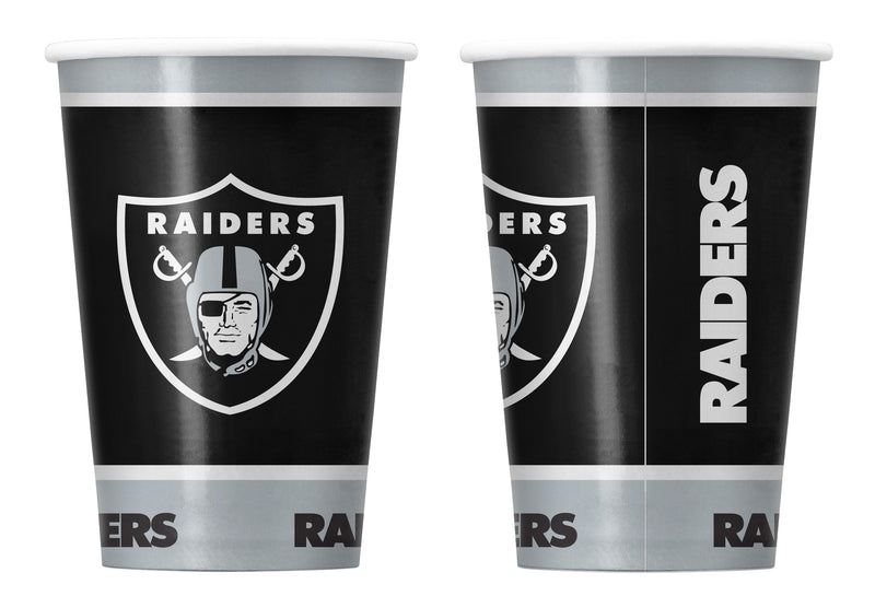 Las Vegas Raiders Disposable Paper Cups