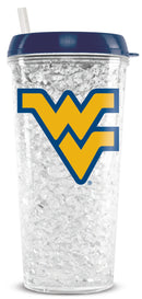 West Virginia Mountaineers Crystal Freezer Tumbler - Special Order