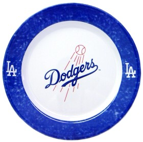 Los Angeles Dodgers 4 Piece Dinner Plate Set
