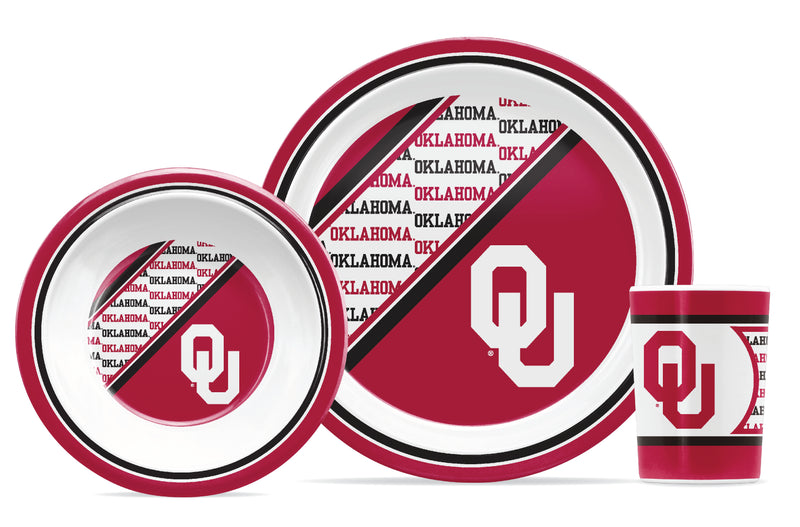 Oklahoma Sooners 5 Piece Children's Dinner Set