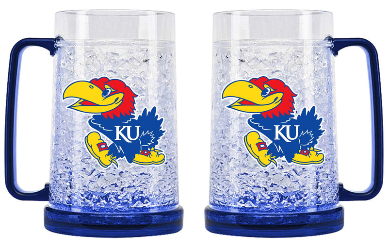 Kansas Jayhawks Crystal Freezer Mug