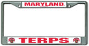 Maryland Terrapins License Plate Frame Chrome