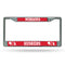 Nebraska Cornhuskers License Plate Frame Chrome