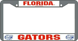 Florida Gators License Plate Frame Chrome