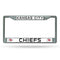 Kansas City Chiefs License Plate Frame Chrome