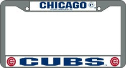 Chicago Cubs License Plate Frame Chrome