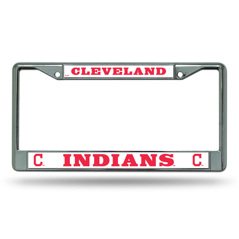 Cleveland Indians License Plate Frame Chrome