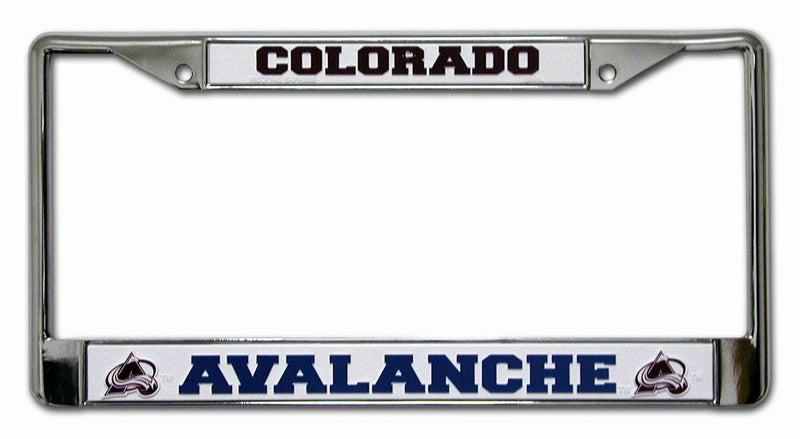 Colorado Avalanche License Plate Frame Chrome