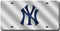 New York Yankees License Plate Laser Cut Silver
