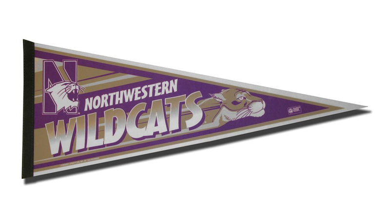 Northwestern Wildcats Pennant 12x30 Carded Rico