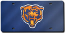 Chicago Bears License Plate Laser Cut Navy