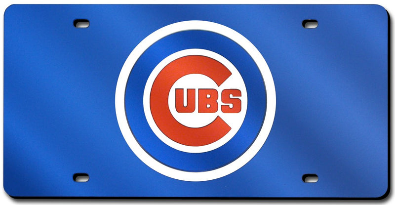 Chicago Cubs License Plate Laser Cut Blue