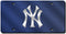 New York Yankees License Plate Laser Cut Blue