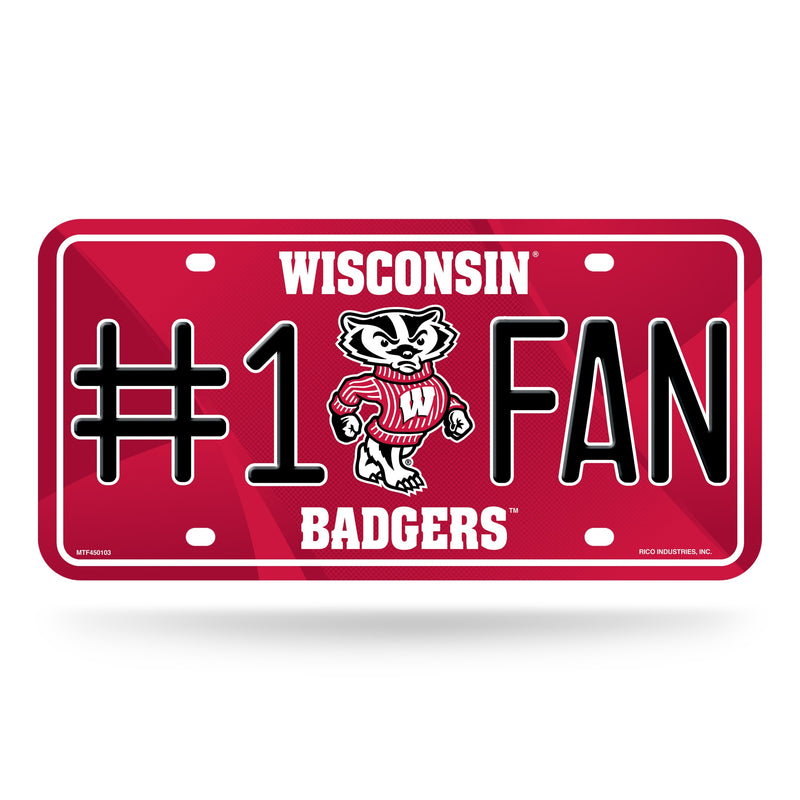 Wisconsin Badgers License Plate -