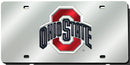 Ohio State Buckeyes License Plate Laser Cut Silver