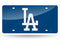 Los Angeles Dodgers License Plate Laser Cut Blue