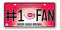 Cincinnati Reds License Plate #1 Fan - Special Order
