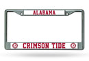 Alabama Crimson Tide License Plate Frame Chrome