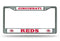 Cincinnati Reds License Plate Frame Chrome