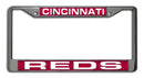 Cincinnati Reds License Plate Frame Laser Cut Chrome