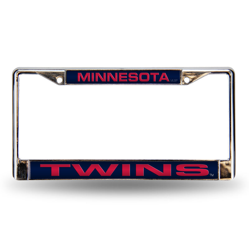Minnesota Twins Laser Cut Chrome License Plate Frame