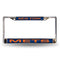 New York Mets Laser Cut License Plate Frame - Blue with Orange Letters
