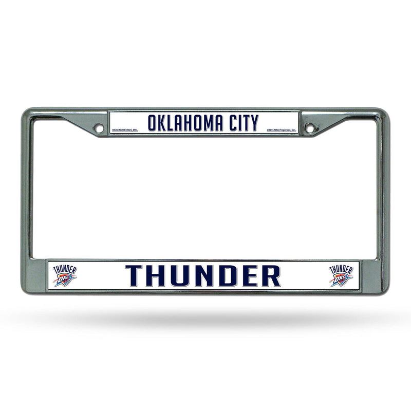 Oklahoma City Thunder License Plate Frame Chrome