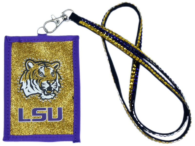 LSU Tigers Wallet Beaded Lanyard Style