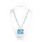 North Carolina Tar Heels Beads with Medallion Mardi Gras Style