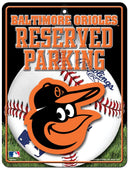 Baltimore Orioles Metal Parking Sign - Special Order