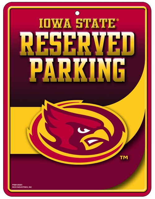 Iowa State Cyclones Sign Metal Parking