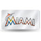 Miami Marlins License Plate Laser Cut Silver - Special Order