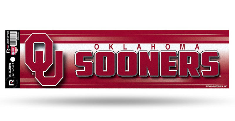 Oklahoma Sooners Decal Bumper Sticker Glitter