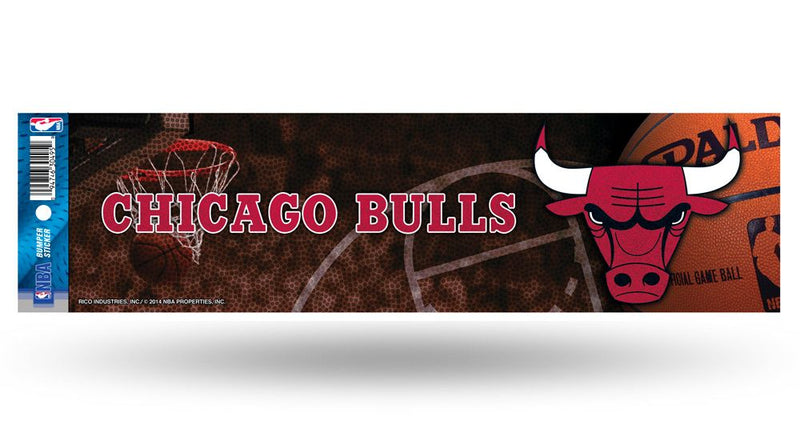 Chicago Bulls Decal Bumper Sticker Glitter
