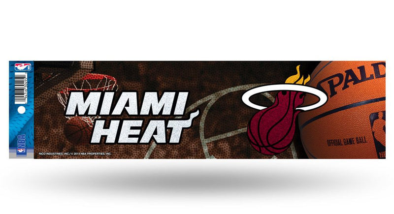 Miami Heat Decal Bumper Sticker Glitter