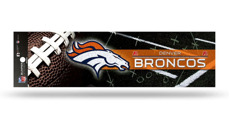 Denver Broncos Decal Bumper Sticker Glitter