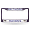 Baltimore Ravens License Plate Frame Metal Purple